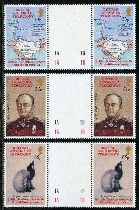 BRITISH ANTARCTIC TERRITORY SCOTT#301/06 GUTTER PAIRS MINT NH-SCOTT VALUE $50.00