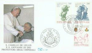 VATICAN POPE JOHN PAUL II HOSPITAL 1986 FDC R202056