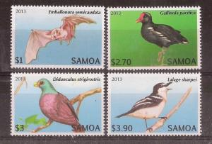 Samoa 2013 Birds MNH (4v)
