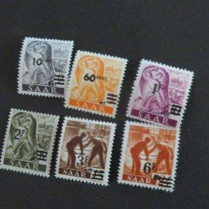 SAAR 175-179, 182,184 Mint, OG 1947 Cv.$1.50
