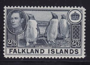 Falklands  Scott # 93 VF lightly hinged nice color cv $ 40 ! see pic !
