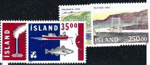 Iceland Attractive Sc#752-55 MNH VF SCV $12.50...grab a bargain!!