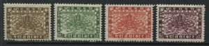 Nepal 1929 2 to 16 pice mint o.g. hinged