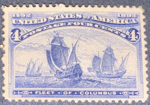US #233 MNH OG.  1893 4c Columbian Commemorative.