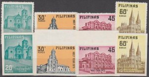 PHILIPPINES 1975 Holy Year set perf & imperf MNH............................L568