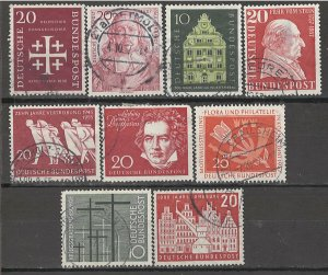 COLLECTION LOT # 4062 GERMANY 9 STAMPS 1956+ CV+$20
