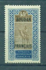 French Sudan sc# 37 mh cat value $1.25