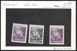 SWEDEN Sc#680-682 Mint Never Hinged