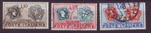 J22643 Jlstamps 1951 italy better set used #587-9 stamps $19.00 scv