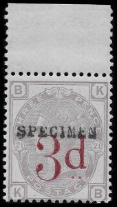Victoria --- RPS Cert ---SG159s K8As 1883 3d/3d Lilac Pl 21 - UNMOUNTED Mint