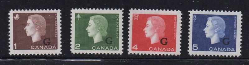 Canada Sc O46-9 1963 QE II Official stamp set mint NH