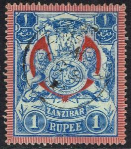 ZANZIBAR 1904 ARMS 1R