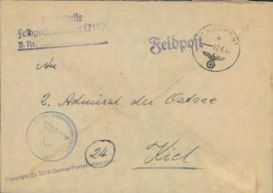 3rd Reich Kriegsmarine Navy Greece Feldpost 47031