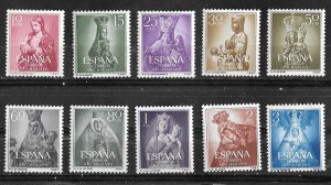 Spain # 804-13  Marian Year  - complete.     (10)  Mint NH