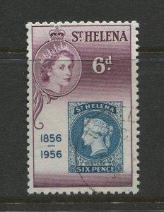 STAMP STATION PERTH St Helena #155 Cent.St Helena 1st Postage Stamp 1956 VFU