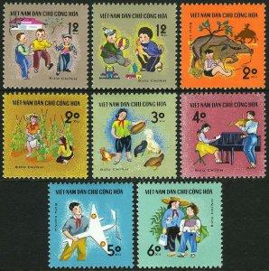 Vietnam 1970 MNH Stamps Scott 571-578 Children's Activities Toys Animals Music