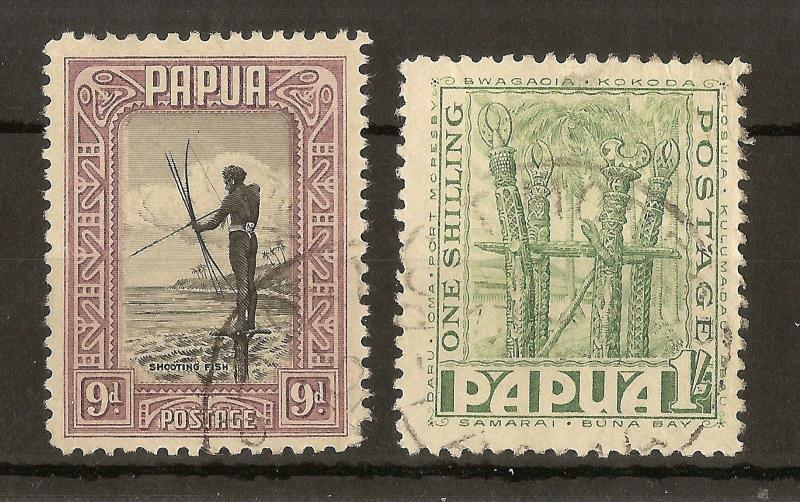 Papua New Guinea 1932 9d & 1/- SG138-139 Fine Used Cat£30