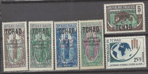 COLLECTION LOT # 3145 CHAD 6 MH STAMPS 1924+ CV+$10