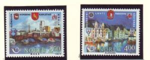 Norway Sc 894-5 1986 Nordic Co-op stamp set mint NH