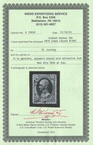 190 used, XF+ 30c. Hamilton, Weiss Cert.  SCV $100
