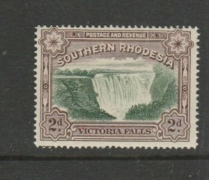 Southern Rhodesia 1935/41 2d Postage & revenue P14 UM/MNH SG 35a