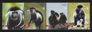 Angola WWF Black-and-white Colobus Strip of 4v SG#1717-1720 MI#1745-1748 SC#1279