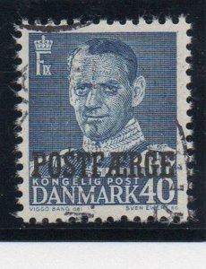 Denmark Sc Q33 1949 40 ore blue Frederik IX Postfaerge stamp used
