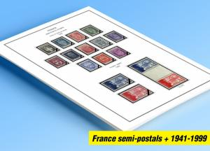 COLOR PRINTED FRANCE 1941-1999 SEMI-POSTALS + STAMP ALBUM PAGES (87 ill. pages)