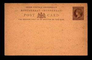 Montserrat 1880s 1/2p Postal Card Unused - L11119