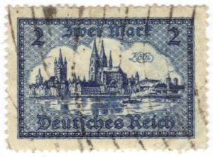 Germany #387 used 2-mark hi value CV $11.50