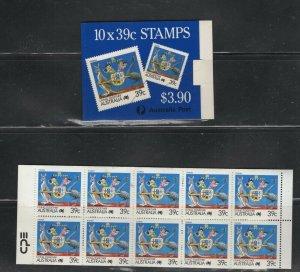 Australia #1063b (1988 39 cent Tourism booklet) VFMNH CV $9.00