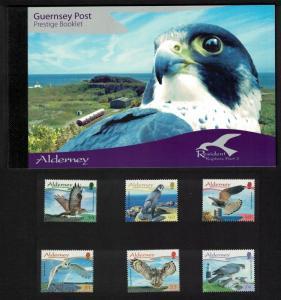 Alderney Residential Birds Raptors 3rd series 6v Prestige Booklet of 4 sets