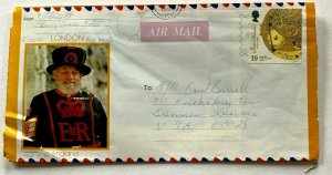 1993 UK postal stationery airmail letter aerogram LONDON John Harrison stamp