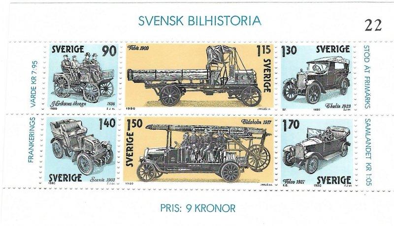 Sweden 1334  SS   Mint NH VF 1980 PD