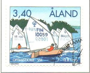 Aland Sc  118 1995 Dinghy Championships stamp used
