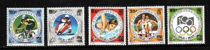 Isle of Man-Sc#615-19-unused NH set-Sports-Olympic Committee-1994-