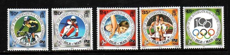 Isle of Man-Sc#615-19-unused NH set-Sports-Olympic Committee-1994-