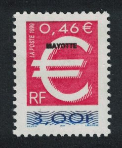 Mayotte The Euro European currency No 3553 of France optd 'MAYOTTE' SG#92