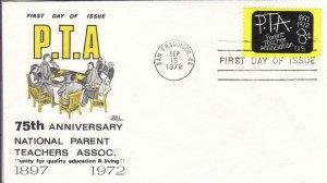 1972, 75th Anniv. P. T. A., Bazaar, FDC (D15131)