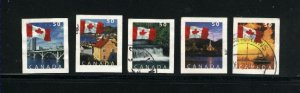 Canada #2076-80  -3  used VF 2004 PD