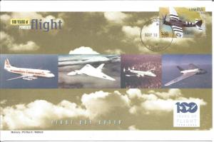 100 Years Of Flight First Day Cover Republic P-47 Thunderbolt 2004 Liberia Z5515