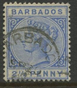 Barbados - Scott #62 -  QV - 1882 - FU - Single 2.1/2p Stamp