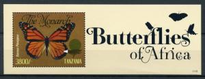 Tanzania Butterfly Stamps 2011 MNH Butterflies of Africa Monarch 1v S/S II
