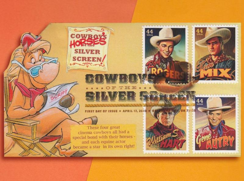The HORSES of the Cowboys of the Silver Screen Get the Spotlight on Pop-Up FDC