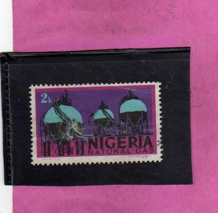 NIGERIA 1973 NATURAL GAS - NATURALE USED