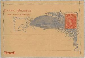 BRAZIL -  POSTAL STATIONERY : DOUBLE CARD