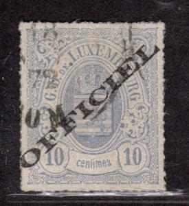 $Luxembourg Sc#o3 used, VF