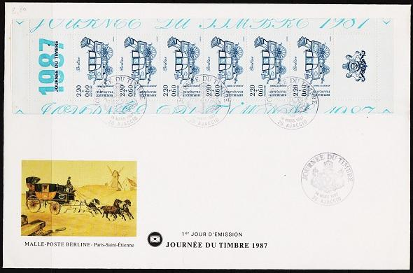 France. FDC. 1987 2f60+60c(Strip of 6) S.G.2769 Fine Used