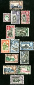 Ceylon Stamps # 278-89A Used XF