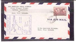 Pan American Airways Clipper Flight Sydney Australia to Sauv Fiji Islands 7-11-1